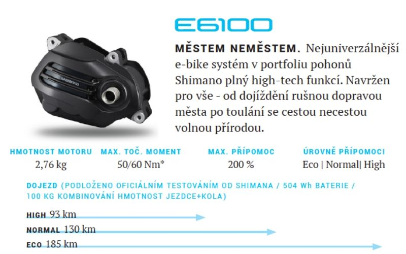 motor shimano steps e6100